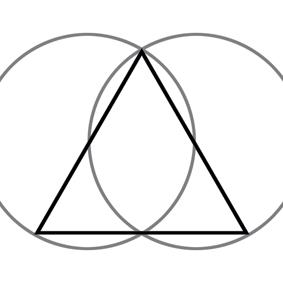 le triangle symbole de la trinit de la loi ternaire et des des trois mondes. Black Bedroom Furniture Sets. Home Design Ideas